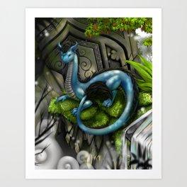 Shang the Dragon Art Print