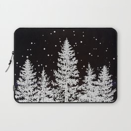 Trees in a Winter Forest Laptop Sleeve
