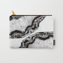 Yin Yang Agate Glitter Glam #2 #gem #decor #art #society6 Carry-All Pouch