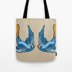 Swallow Tattoo Tote Bag