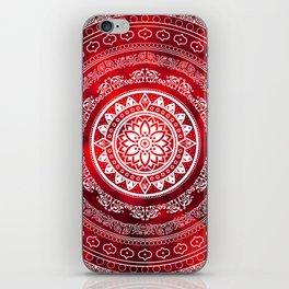 Mandala Scarlet Destiny Spiritual Zen Bohemian Hippie Yoga Mantra Meditation iPhone Skin