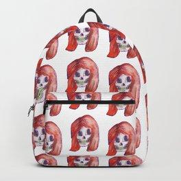 skull girl pattern Backpack
