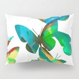 Green Butterflies Pillow Sham