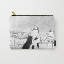 Cats on parisian roof Carry-All Pouch