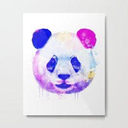 Panda Watercolor, Panda Print, Watercolor Print, Watercolor Animal, Panda Painting, Panda Gift Print Metal Print