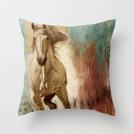 Loyal Steed Throw Pillow