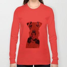 Airedale Terrier Dog Art Long Sleeve T-shirt