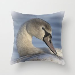 Beautiful Swan Throw Pillow