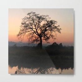 Safari Sunrise in Africa Metal Print