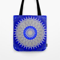 frozen Tote Bags featuring Frozen  by Lena Photo Art
