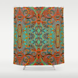 Ethnic Style G250 Shower Curtain
