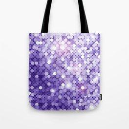 Ultra Violet Purple Glitter Tote Bag