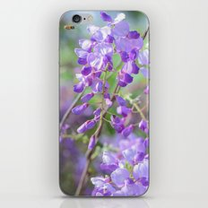 Bees and lilacs iPhone Skin