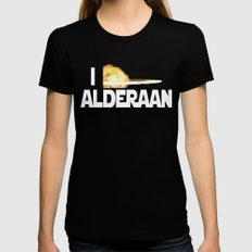 I Blew Up Alderaan Womens Fitted Tee Black SMALL