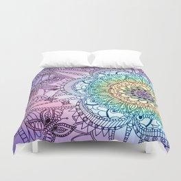 Purple Butterfly Mandala Duvet Cover
