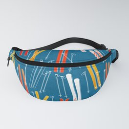 Colorful Ski Pattern Fanny Pack