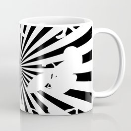 Sports figures in abstract background Coffee Mug