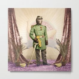General Simian of the Glorious Banana Republic Metal Print