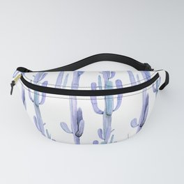 Blue Cactus Stack Pattern Fanny Pack