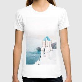 Santorini Greece Mamma Mia blue-white travel photography in hd. T-shirt
