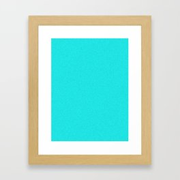 Aqua Cyan Saturated Pixel Dust Framed Art Print