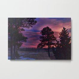 Behind The Sunset Metal Print