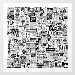 Vintage Smut & Sleaze Collage Art Print