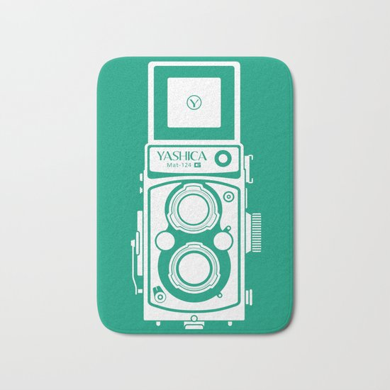 Yashica Mat 124G Camera Emerald Bath Mat