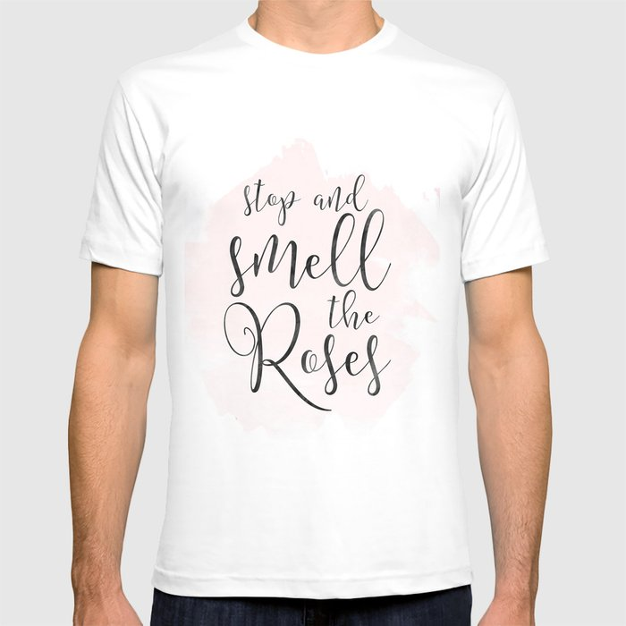 064b6b22 Wine Art Print, Stop and Smell the Rose, Funny Drink Quote, Wine Lovers  Gift, Rose Wine Print T-shirt by tomoogorelica   Society6
