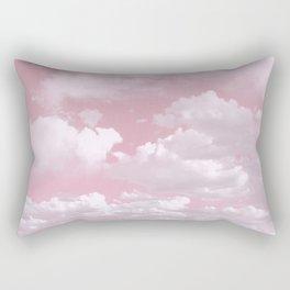 Clouds in a Pink Sky Rectangular Pillow