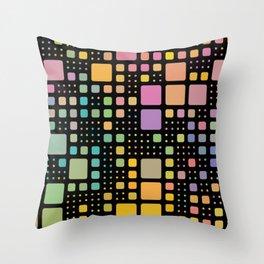 Pop Squares Throw Pillow