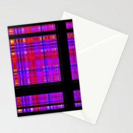 Unicorn Plaid Squares Stationery Cards