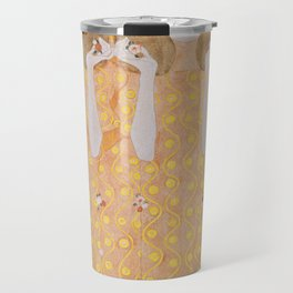 Gustav Klimt - Choir of Angels (Chor Der Paradiesengel) Travel Mug