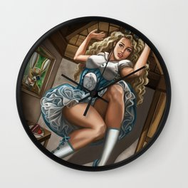 Steampunk Alice in Wonderland Drink Me Wall Clock