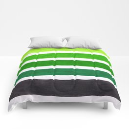 Colorful Green Stripes Comforters