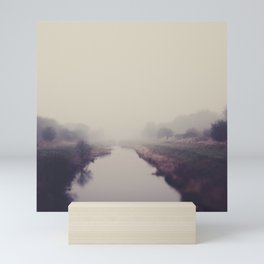 true beauty is a foggy landscape in the English Fens. Mini Art Print