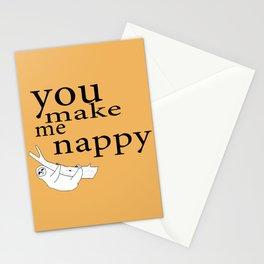 You make me nappy Stationery Cards