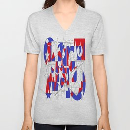 Crazed Unisex V-Neck