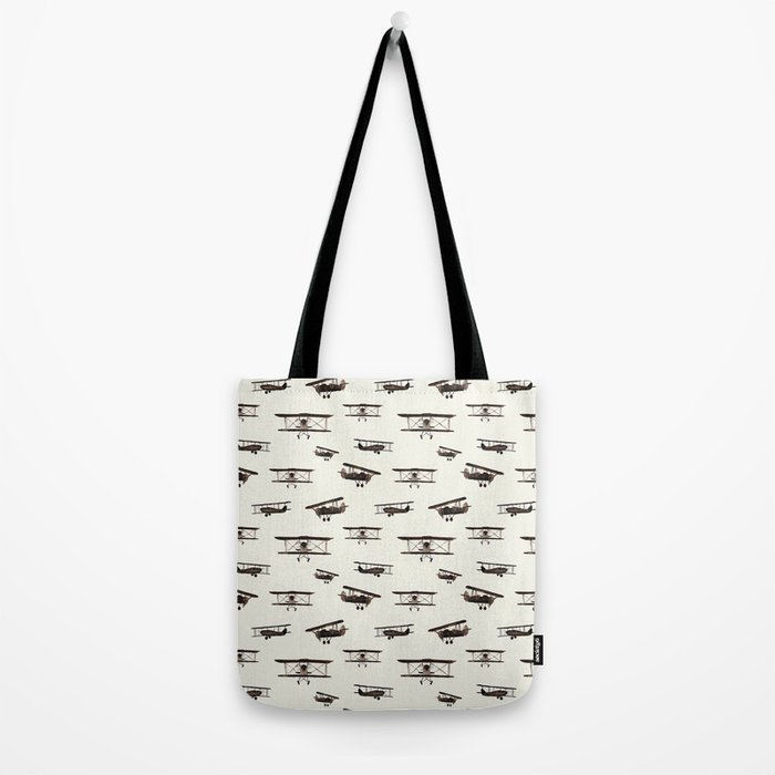 Retro airplanes Tote Bag