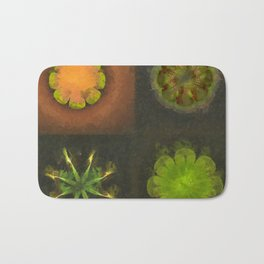 Squirm Bared Flowers  ID:16165-120806-85390 Bath Mat