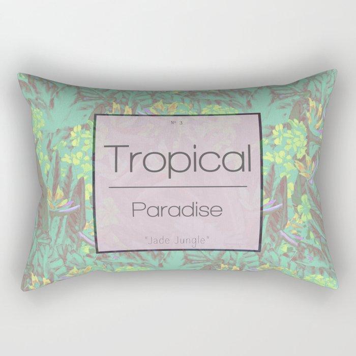 Tropical Paradise: Jade Jungle Rectangular Pillow