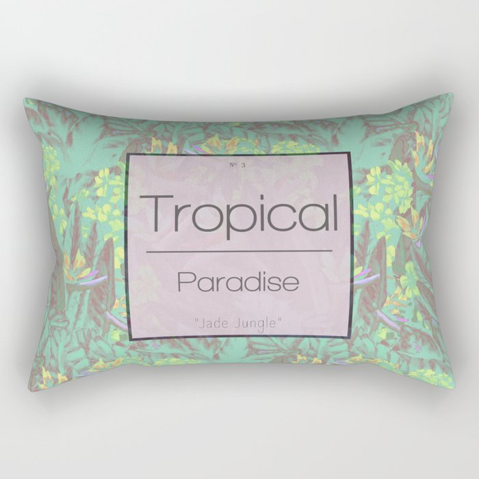 Tropical Paradise: Jade Jungle Rectangular Pillow
