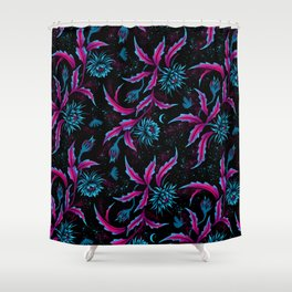 Queen of the Night - Black Purple Shower Curtain