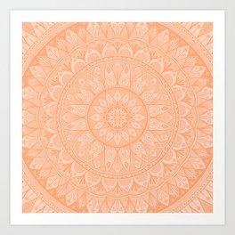 Cantaloupe Mandala 5 Art Print