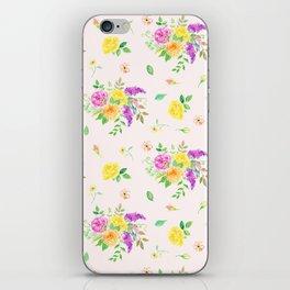 Watercolor Rose Pattern iPhone Skin