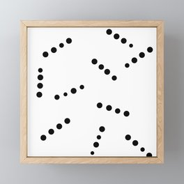 Dotted Lines Framed Mini Art Print