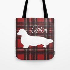 Custom Longhair Dachshund, Aston Tote Bag