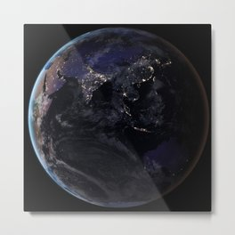 The Earth at Night 2 Metal Print
