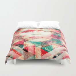 Bowie abstraction Duvet Cover
