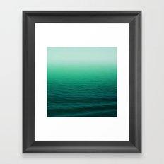Deep Aqua Waves Framed Art Print